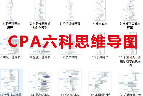 干货一:CPA会计思维导图100张